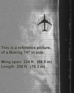 Comparison of Boeing 747 and anomoly size. Ocean Explorer image from oceanexplorer.se