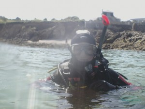 Clare, one of our resident Marine Biologists at Kernow Divers