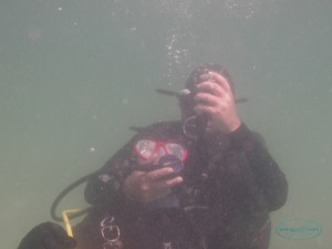 Rescueing an unconscoius diver practice