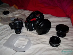 Olympus E-PM1 and PT-EP06L underwater photography kit.