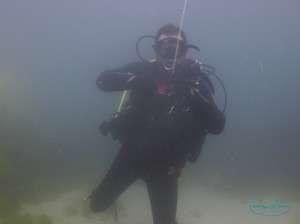 Puzzled diver